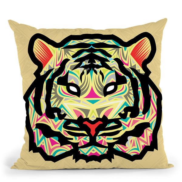 Tiger-Sauvage Throw Pillow By Baro Sarre
