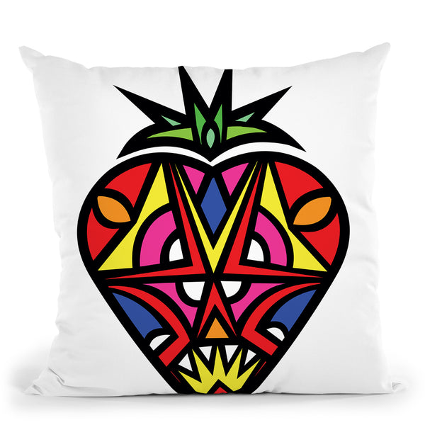 Vibrant Strawberry Throw Pillow By Baro Sarre