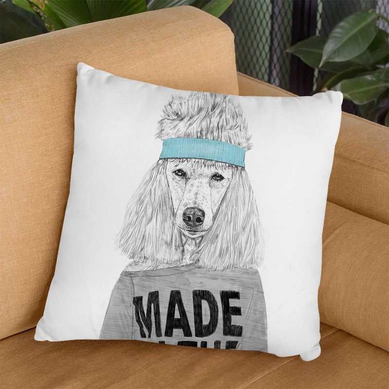 80'S Bitch Throw Pillow By Balazs Solti