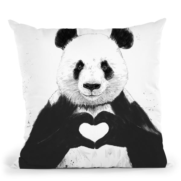 All You Need Is Love Throw Pillow By Balazs Solti