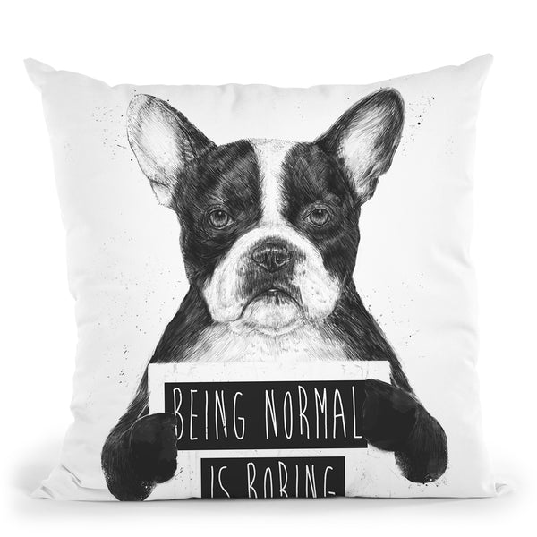 Being Normal Isboring Throw Pillow By Balazs Solti