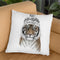 Siberian Tiger 1-1 Throw Pillow By Balazs Solti