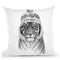Siberian Tiger 1-1 Bw Throw Pillow By Balazs Solti