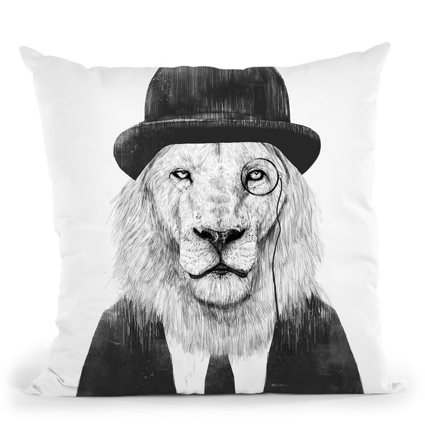 Sir Lion Throw Pillow By Balazs Solti
