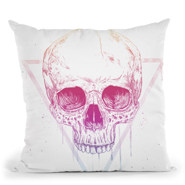 Skull In Triangle Throw Pillow By Balazs Solti