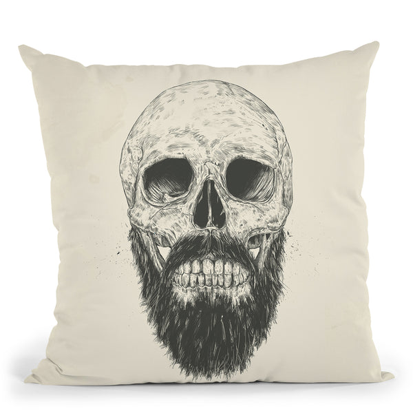 The Beard Is Not Dead Throw Pillow By Balazs Solti