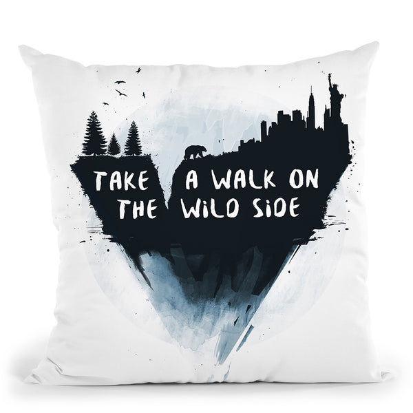 Walk On The Wild Side Throw Pillow By Balazs Solti