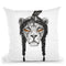 Warrior Lion Throw Pillow By Balazs Solti