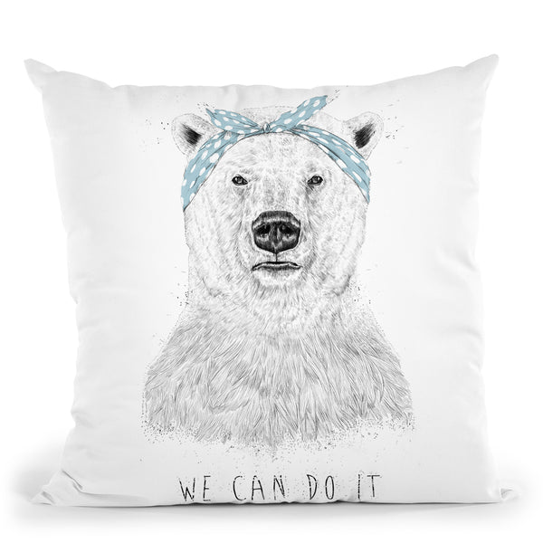 We Can Do It Throw Pillow By Balazs Solti
