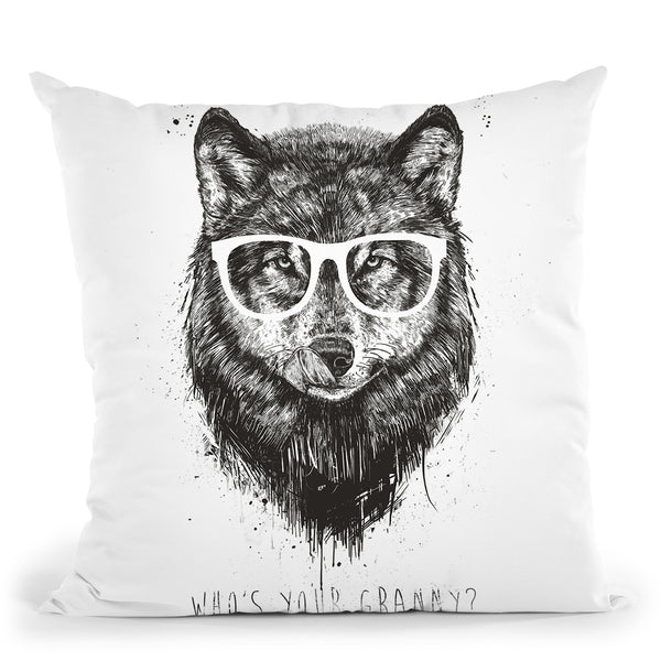 Whos Your Granny Black Throw Pillow By Balazs Solti