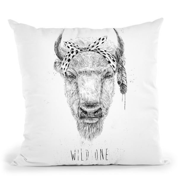 Wild One Throw Pillow By Balazs Solti