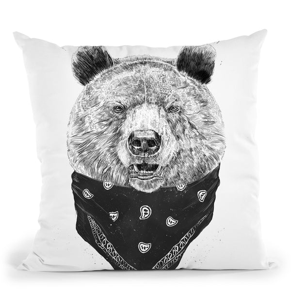 Wild Bear Throw Pillow By Balazs Solti