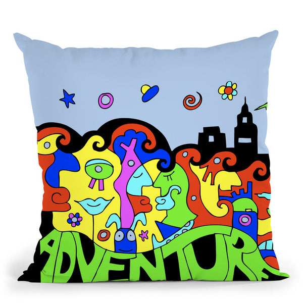 Adventure Throw Pillow By Billy The Artist
