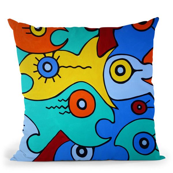 Big Fish Throw Pillow By Billy The Artist