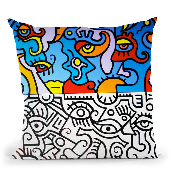 Contrast Throw Pillow By Billy The Artist