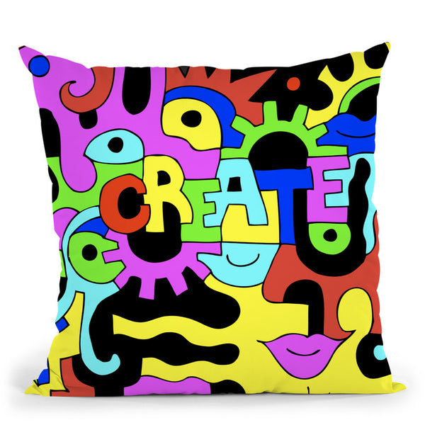 Create Ii Throw Pillow By Billy The Artist