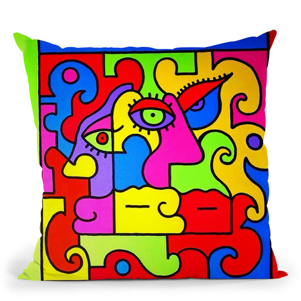 Family Throw Pillow By Billy The Artist