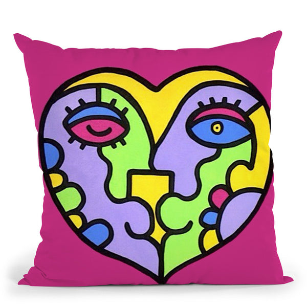 I Heart You Throw Pillow By Billy The Artist