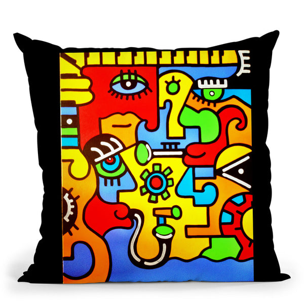 Jazz Throw Pillow By Billy The Artist