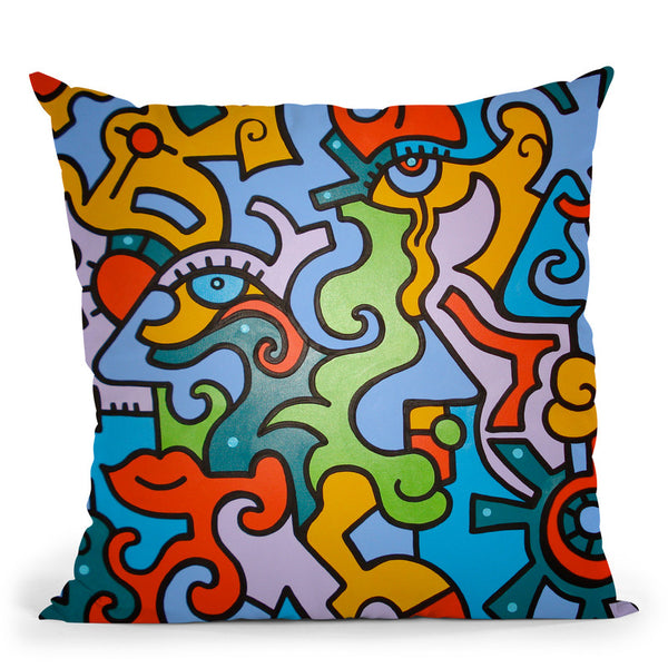 Jigsaw Throw Pillow By Billy The Artist
