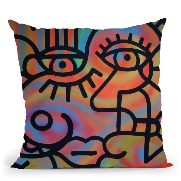 John And Sally Throw Pillow By Billy The Artist