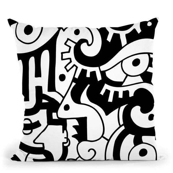 Looking Around Throw Pillow By Billy The Artist