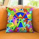 Peace Throw Pillow By Billy The Artist