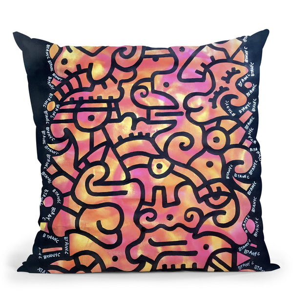 The City Throw Pillow By Billy The Artist