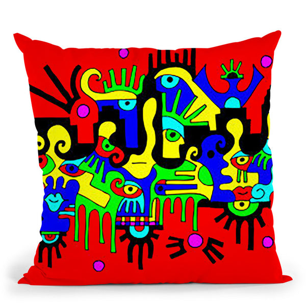 The Floating City Throw Pillow By Billy The Artist