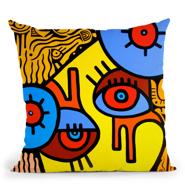 The Lady Throw Pillow By Billy The Artist