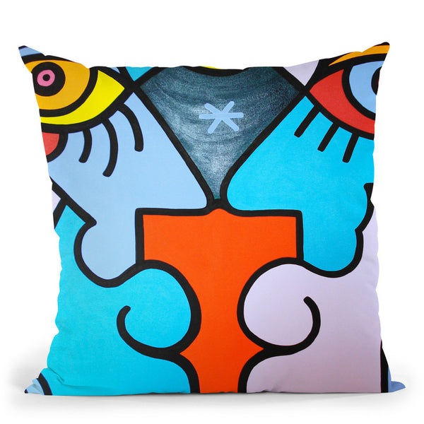 Valentines Kiss Throw Pillow By Billy The Artist