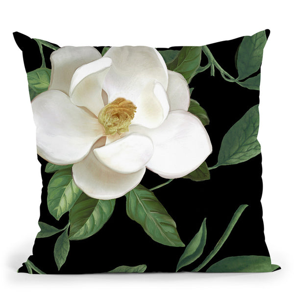 Sweet Magnolias Ii Throw Pillow By Color Bakery
