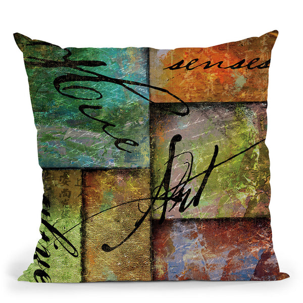 Color Therapy Ii Throw Pillow By Color Bakery