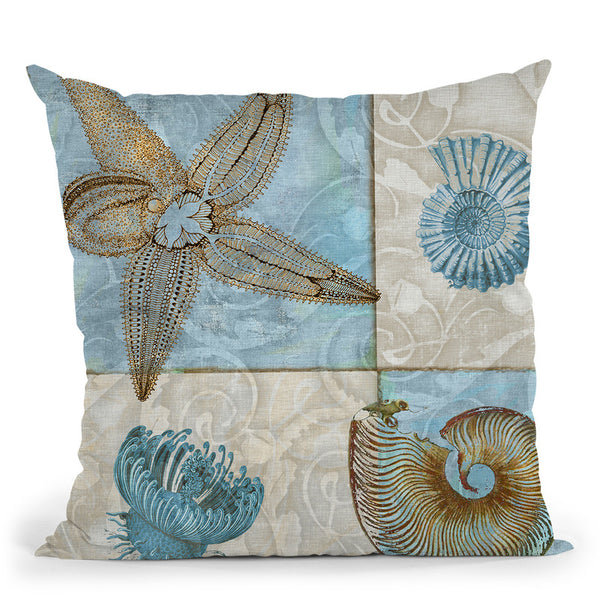 Sea Life V Throw Pillow By Color Bakery