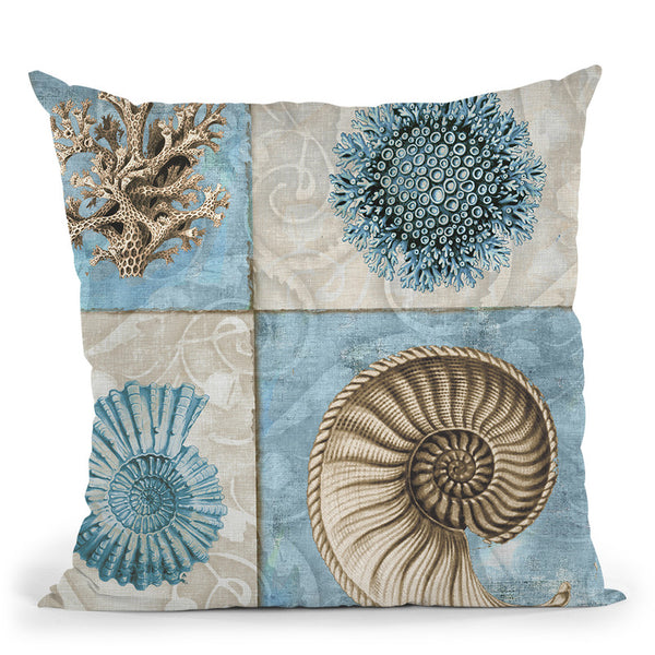 Sea Life Vi Throw Pillow By Color Bakery