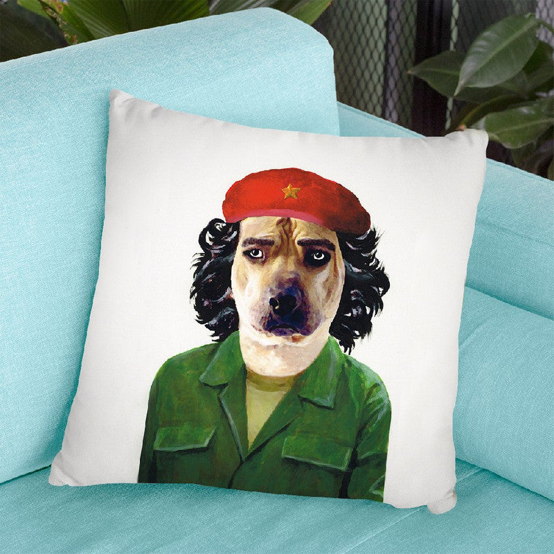 Che Guevara Dog Throw Pillow By Coco De Paris