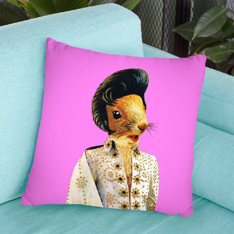 Presley Squirrel Throw Pillow By Coco De Paris