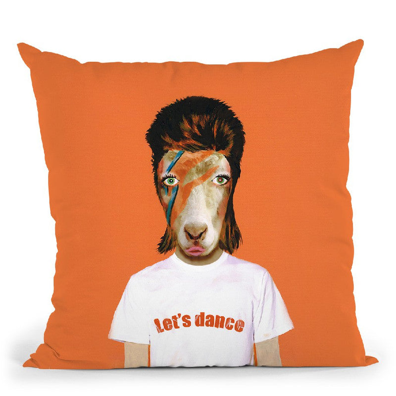 Bowie Goat Throw Pillow By Coco De Paris
