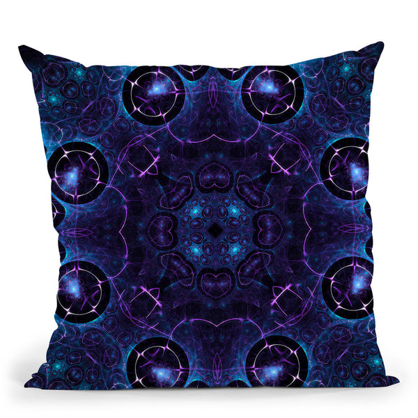 Connected V  Throw Pillow By Cameron Gray - by all about vibe