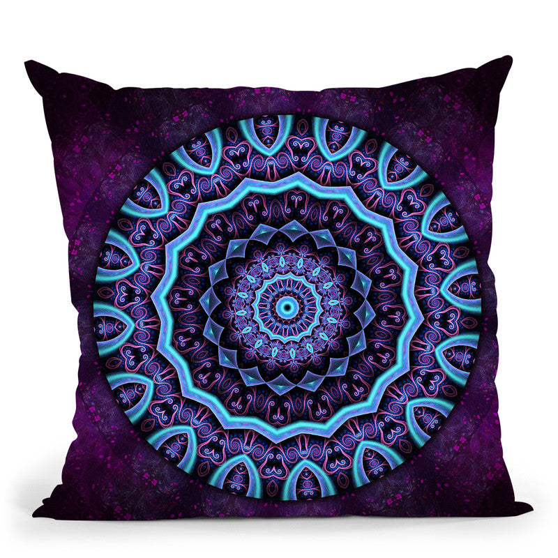 Dream Mandala Ii  Throw Pillow By Cameron Gray - by all about vibe