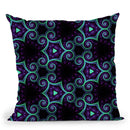 Electric Night Visions  Throw Pillow By Cameron Gray - by all about vibe