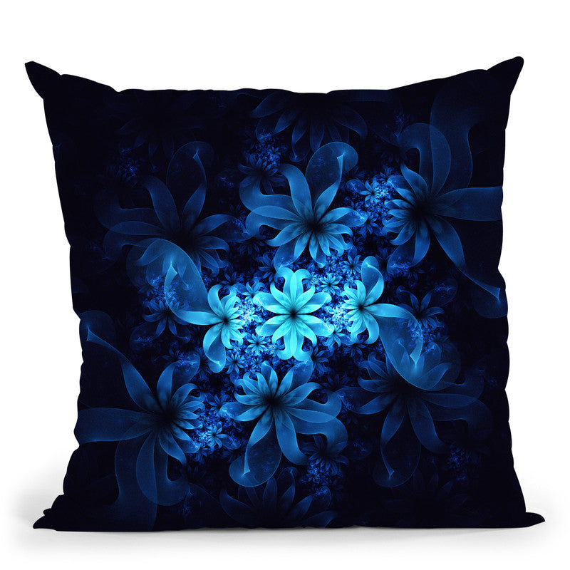 Luminous Flowers  Throw Pillow By Cameron Gray - by all about vibe