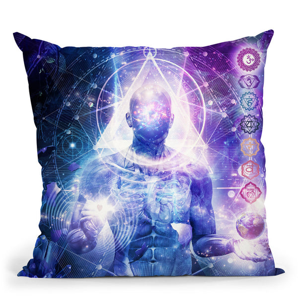 Mind Of Light  Throw Pillow By Cameron Gray - by all about vibe