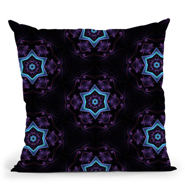 Night Session Visions Ii  Throw Pillow By Cameron Gray - by all about vibe