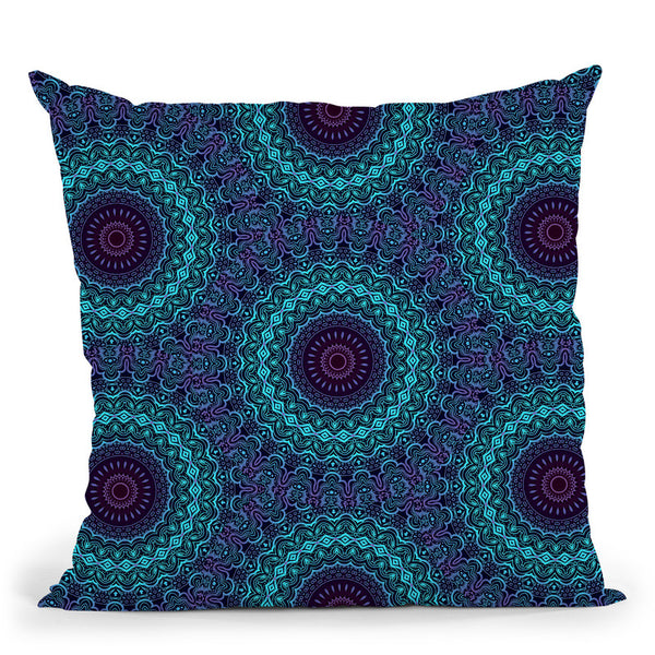 Night Session Visions Iii  Throw Pillow By Cameron Gray - by all about vibe