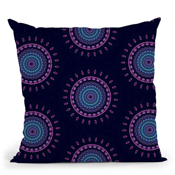 Psy Vibes Iii  Throw Pillow By Cameron Gray - by all about vibe