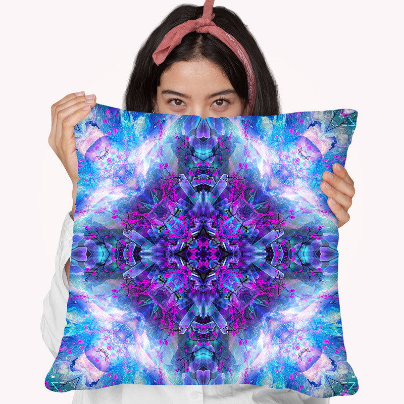 Set And Setting Ii  Throw Pillow By Cameron Gray - by all about vibe