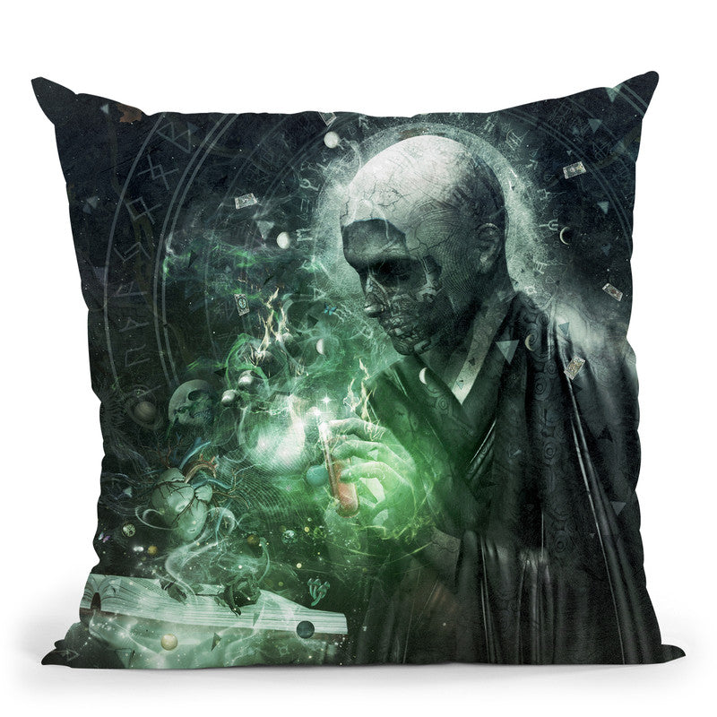 The Alchemist  Throw Pillow By Cameron Gray - by all about vibe