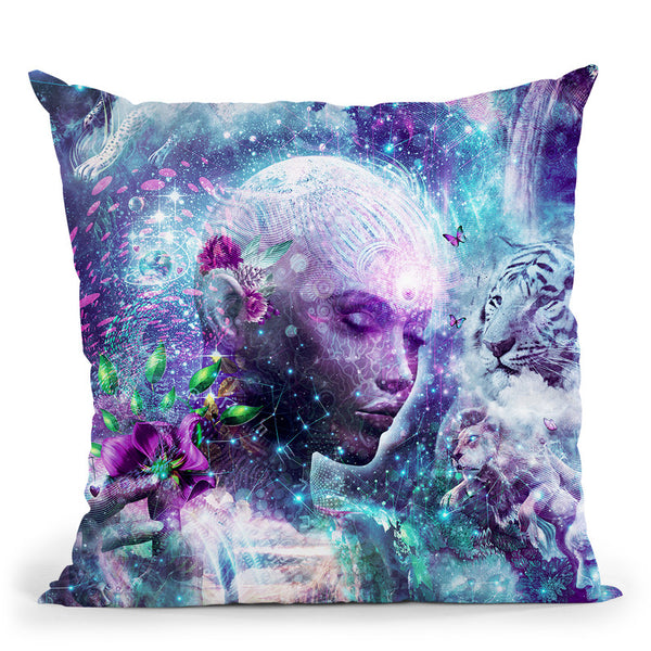 Discovering The Cosmic Consciou  Throw Pillow By Cameron Gray - by all about vibe