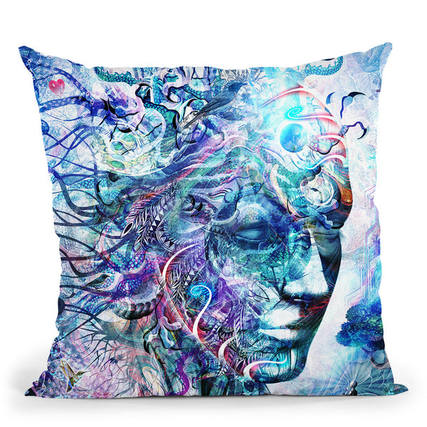 Dreams Of Unity  Throw Pillow By Cameron Gray - by all about vibe